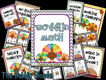 'Gobblin Math~ 6 Turkey Themed Centers