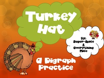 Gobblin' Up Digraphs~ Turkey Hat