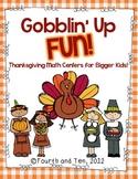 Gobblin' Up Fun {Math Centers for Bigger Kids}