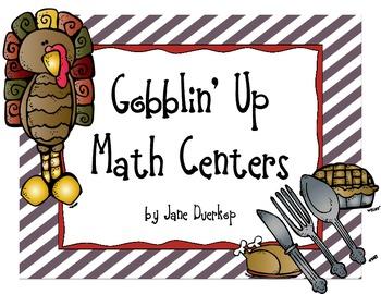 Gobblin' Up Math Centers