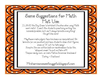 Gobblin' Up Subtraction Math Mats