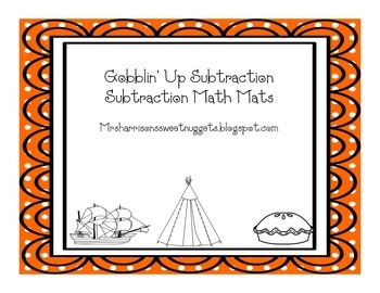 Gobblin' Up Subtraction Math Mats