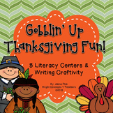 Gobblin' Up Thanksgiving Fun {8 Literacy Centers and Writing Craftivity}