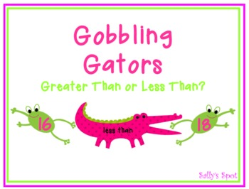 Gobbling Gators - A Greater Than  Less Than Activity