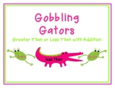 Gobbling Gators - A Greater Than Less Than Activity With Addition
