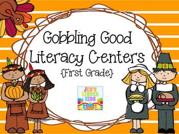 Gobbling Good Literacy Centers {First Grade}