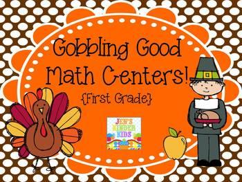 Gobbling Good Math Centers {First Grade}