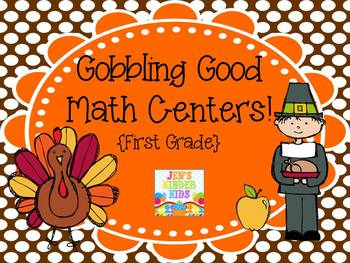 Gobbling Good Math Centers {First Grade}
