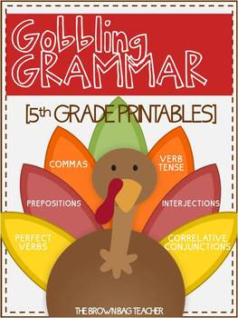 Gobbling Grammar: November Language Printables