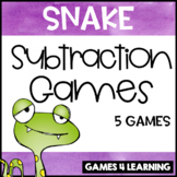 Gobbling Snake Subtraction Board Games