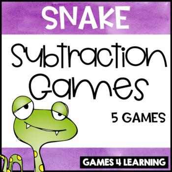 Gobbling Snake Subtraction Board Games