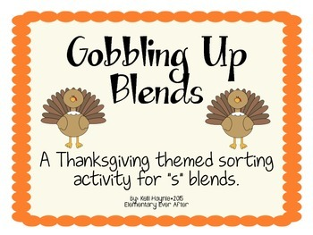 "Gobbling Up Beginning ""S"" Blends"