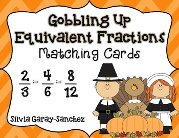Gobbling Up Equivalent Fractions: Matching Cards