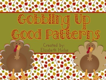 Thanksgiving Patterns {AB, ABB and ABC Patterns}