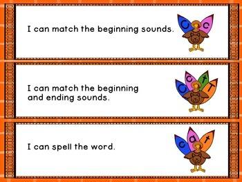 Gobbling Up Letter Sounds: A Thanksgiving Center