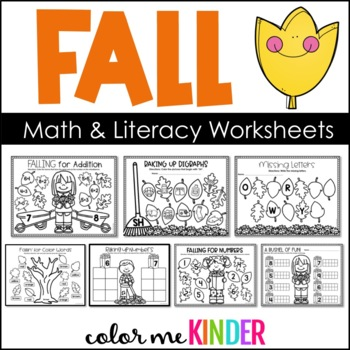 November NO PREP Math Printables for K/1