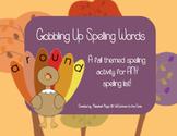 Gobbling Up Spelling Words