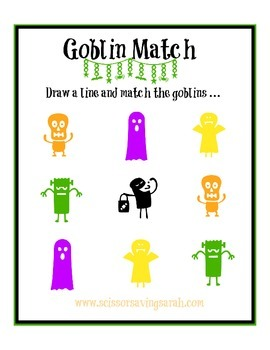 Goblin Match Print Sheet