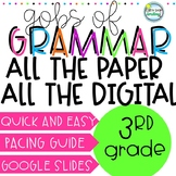 Gobs of Grammar 3rd Grade ALL THE PAPER AND DIGITAL in one BUNDLE