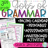 Gobs of Grammar 3rd Grade No Prep Pacing Guide Whiteboard