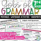 Gobs of Grammar 3rd Grade No Prep Pacing Guide Whiteboard