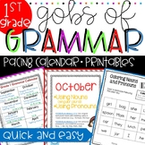 Common Core Grammar 1st Grade ~ Grammar Worksheets ~ 1st G