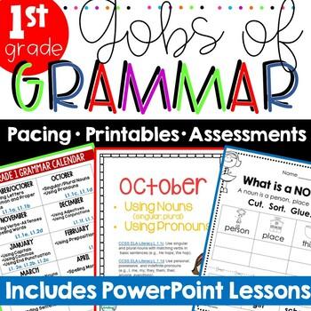 Common Core Grammar 1st Grade ~ Grammar Worksheets ~ 1st G