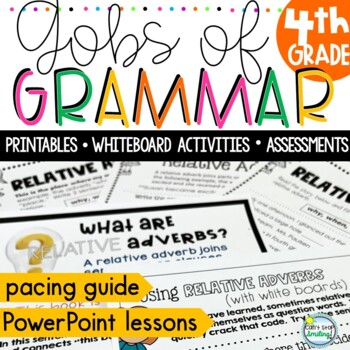 4th Grade Grammar Common Core ~ Grammar Lessons, Worksheets, Activities NO PREP