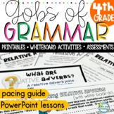 4th Grade Year Long Gobs of Grammar Common Core ~ Lessons Activities Worksheets