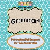 Grammer Printables/Bell Ringers for Second Grade