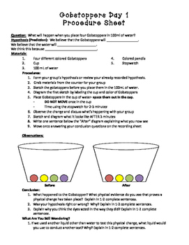 Gobstopper Experiment: Physical Changes