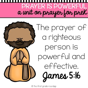 Prayer is Powerful Pre-K Bible Unit