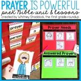 Prayer is Powerful Preschool Bible Unit