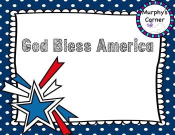 God Bless America Presentation