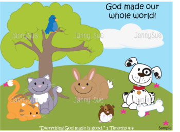 God Created Animals Craft