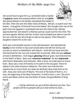 God Created Mothers: A Biblical look at motherhood