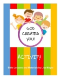 """""""God Created You"""" Handouts  -  Just Print and Go!"""