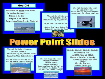 """""""God Did"""" A Song of God's Love (Ocean, Fish, Whales + Tide)"""