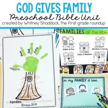 Sunday School Bible Unit: God Give Family