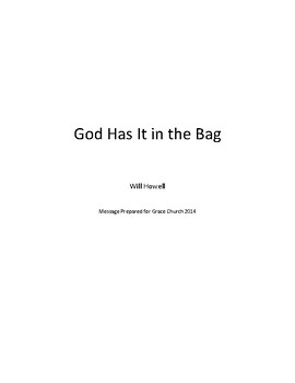 God Has It In The Bag