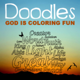 God Is Coloring Fun Activity Work Book - Writing Prompts,