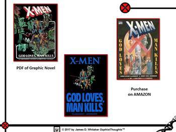 "Marvel Comics X-Men ""God Loves, Man Kills"" Unit Plan"