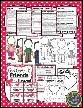 God Loves Us, So We Love Each Other {Bible Unit}