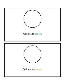 God Made Colors (with color clues)
