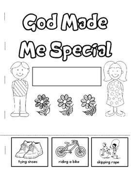 God Made Me Special Booklet