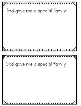 God Made Me Special Mini-Book