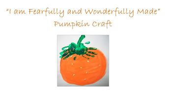 "God Made Me Special - ""Perky the Orange Pumpkin"""