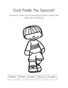 God Made Me Special - Worksheet Bundle by Little Way ...