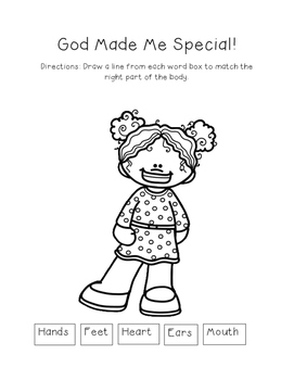 God Made Me Special - Worksheet Bundle