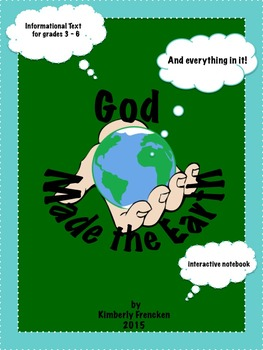 God Made the Earth: Christian Earth Day Interactive Notebook